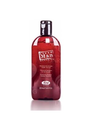 Укрепляющий шампунь для нормальных волос для мужчин Lisap 250 мл.