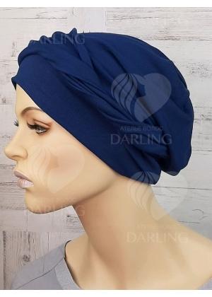 Шапочка Луиза синяя