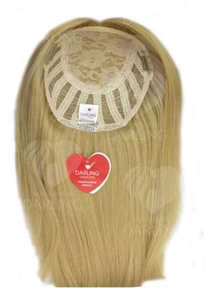 Полупарик Велория из натуральных волос с пробором (45 см)