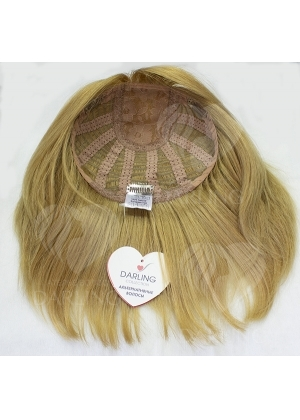 Полупарик Бажена из натуральных волос без пробора (37,5 см)