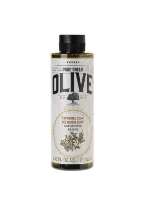 Кремовый гель для душа кедр Korres Pure Greek Olive 250 мл.