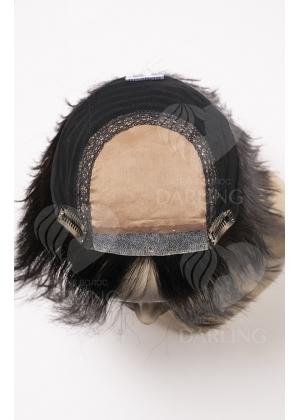 Полупарик из натуральных волос с пробором легкий (20 см)