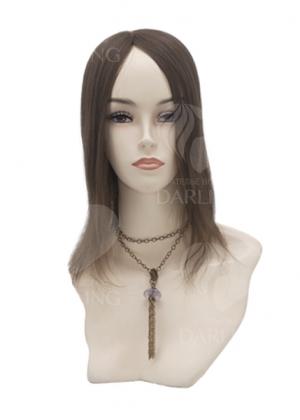 Теменная накладка на сетке из натуральных волос (30 см)