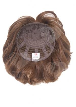 Полупарик Бекка из натуральных волос с пробором (20 см)