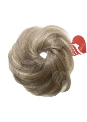 Шиньон резинка из натуральных волос (15 см)