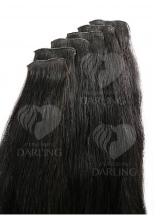 Натуральные волосы на заколках (ручной тресс) набор из 6 прядей 50 см