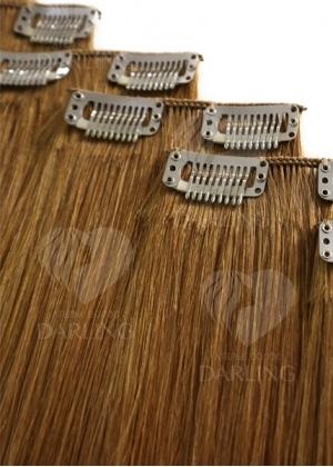 Натуральные волосы на заколках (ручной тресс) набор 6 прядей 40 см