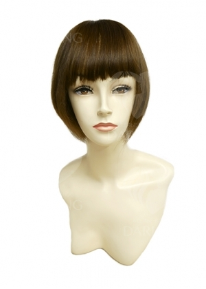 Полупарик Зара из натуральных волос с пробором (20 см)