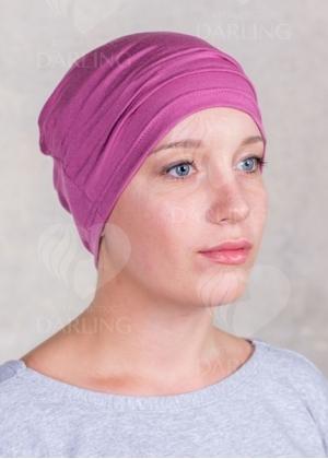 Шапочка Комфорт пепельно-розовая
