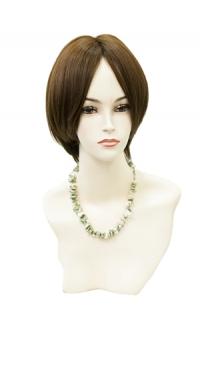 Полупарик Зара из натуральных волос с пробором (25 см)