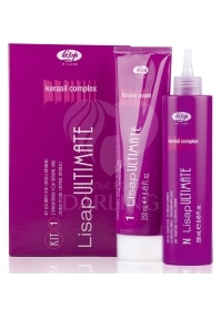 Состав для выпрямления натуральных волос Lisap Ultimate 1 KIT