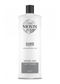 Очищающий шампунь для тонких волос Nioxin (System 1) 1000 мл.