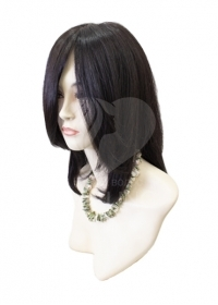Полупарик Владлена из натуральных волос с пробором (40 см)