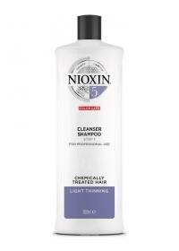Очищающий шампунь для жестких волос Nioxin (System 5) 1000 мл.