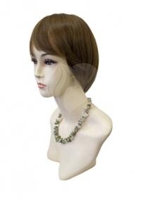 Полупарик Веста из натуральных волос без пробора (25 см)