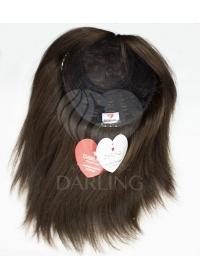 Полупарик Агния из натуральных волос без пробора (35 см)