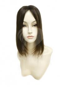 Накладка на пробор из натуральных волос (30 см) цвет 6/0
