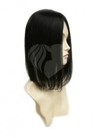 Накладка теменная из натуральных волос цвет 1/0 (35 см)