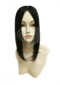Накладка на пробор из натуральных волос цвет 2/0 (35 см)