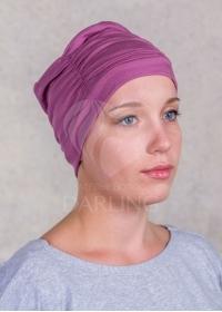Шапочка Диана пепельно-розовая