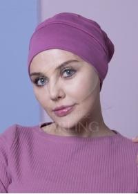 Шапочка Диана+ пыльно-розовая