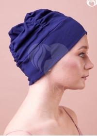 Шапочка Диана+ темно-синяя