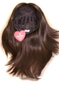 Полупарик Берта из натуральных волос без пробора (40 см)