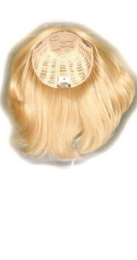 Полупарик из натуральных волос с пробором легкий (25 см)