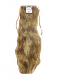 Хвост на ленте из натуральных волос на сетке (40 см)