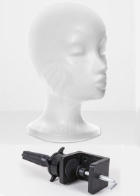 Голова пенопластовая и штатив для укладки париков