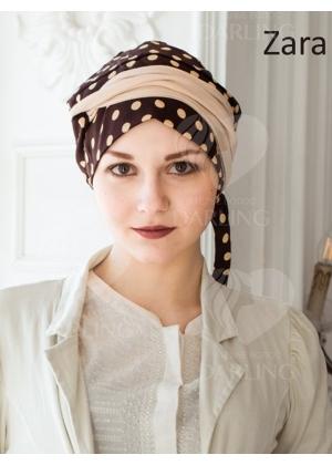 Тюрбан-шапочка Зара (темно-коричневый)